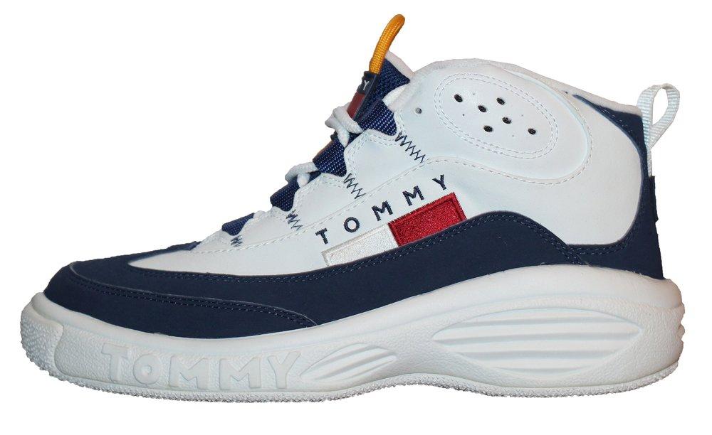 dbd96be8b Vintage Tommy Hilfiger Navy   Orange Basketball Sneaker (Size 8.5 ...