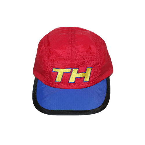 3470bbaf Vintage 90s Tommy Hilfiger Red / Blue / Yellow Athletic Gear Cycling 5  panel hat