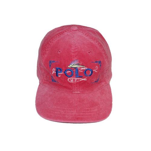b72dc2471aa28 Vintage Polo Ralph Lauren Sportsman Fly Fishing pink corduroy hatVintage Polo  Ralph Lauren Sportsman Fly Fishing