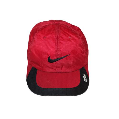 Vintage Nike Red Nylon Running Hat — Roots 325e6e348da