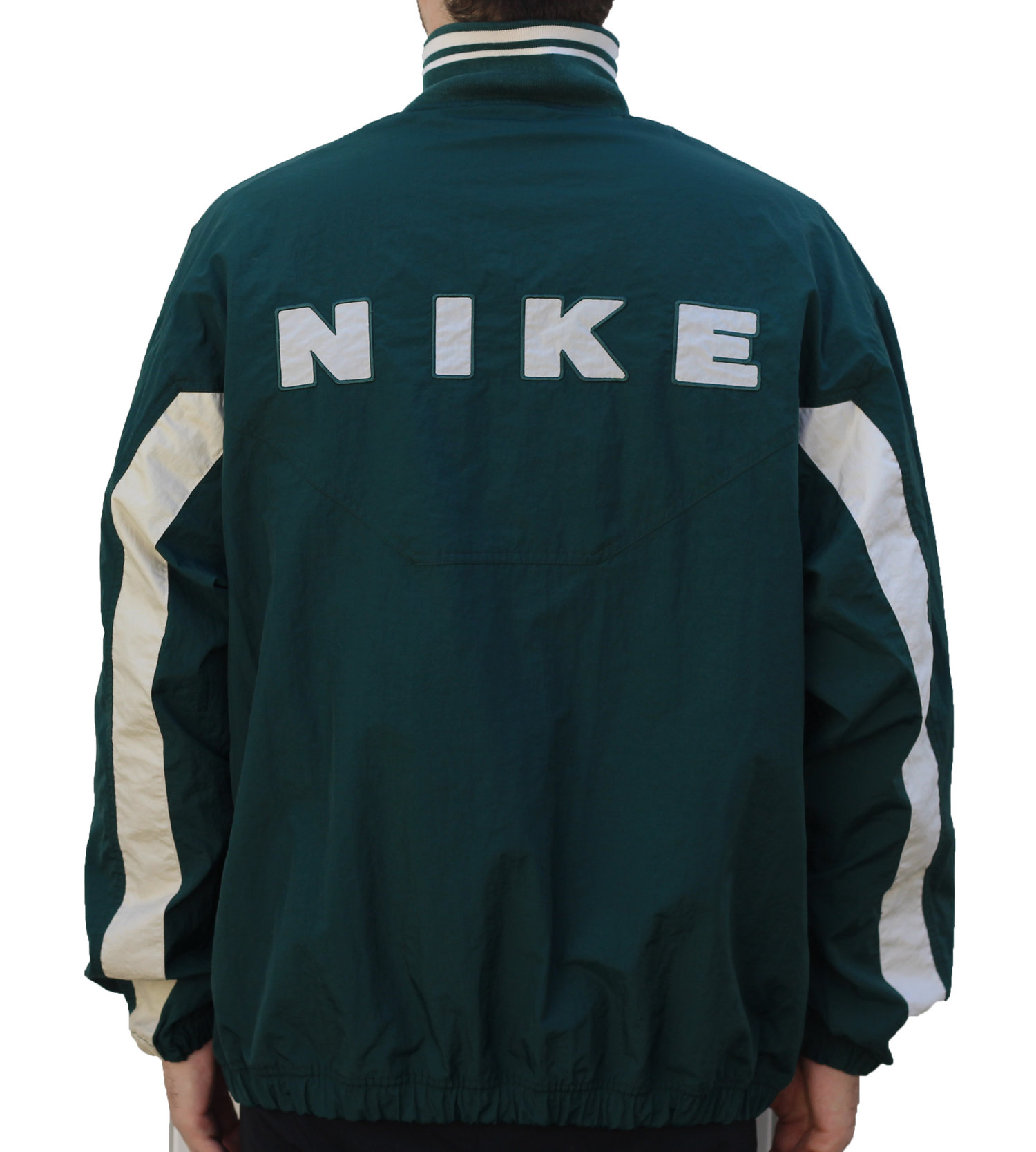 Vintage Nike Forest Green Spell Out Windbreaker (Size XL) — Roots a4970494a