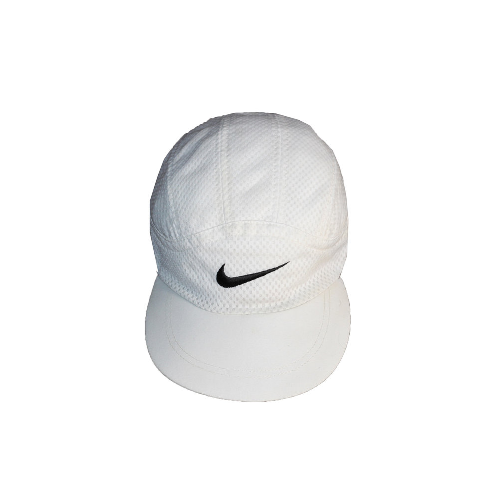 ... top quality vintage 90s nike white and black mesh 5 panel hat 4f9f1  55839 b29ed4ee7984