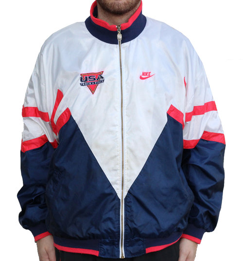 Vintage Nike USA Track And Field Windbreaker (Size XL) — Roots
