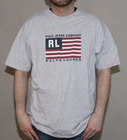 Vintage Polo Ralph Lauren Jean Co Flag T Shirt (Size XL) — Roots e1da2462266