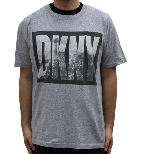 Vintage DKNY Heather Grey Skyline T Shirt (OSFA) — Roots 7fe7565aaa7
