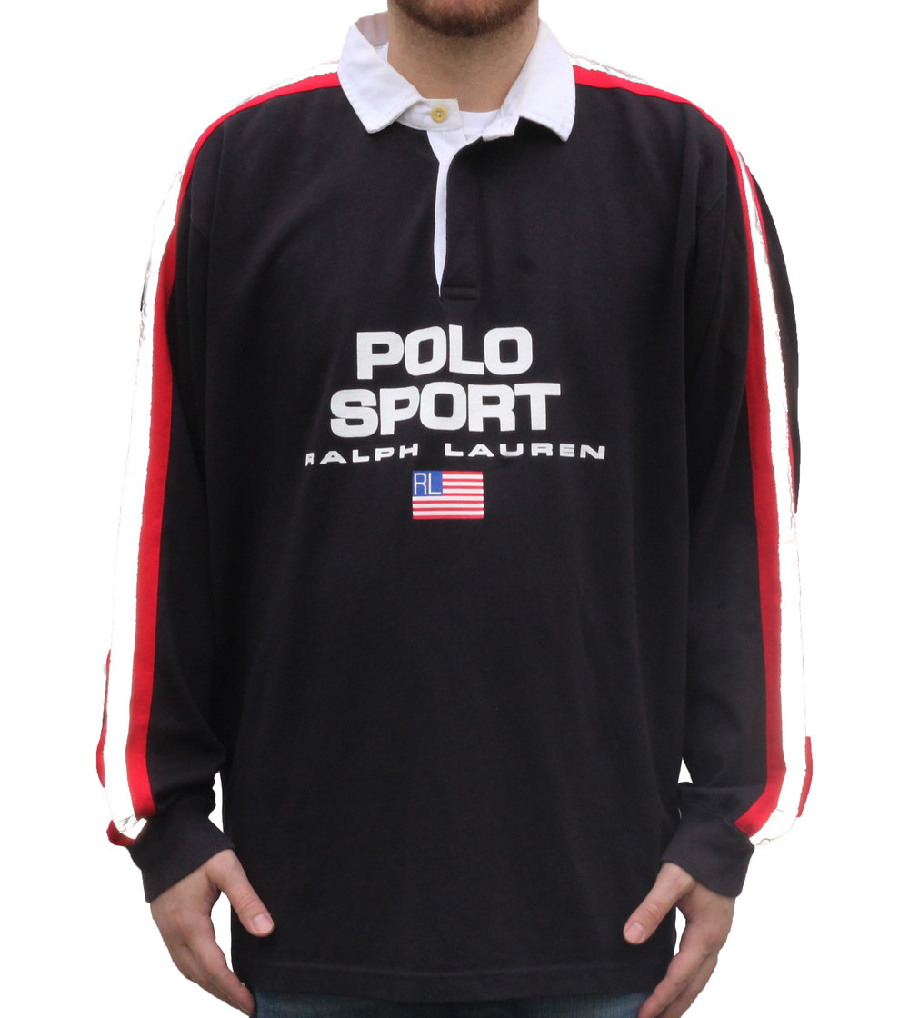 8c3d480b951 where to buy vintage ralph lauren polo sport rugby shirt 39c0e 542b6;  coupon code for vintage 90s polo sport 3m rugby 69229 bd293