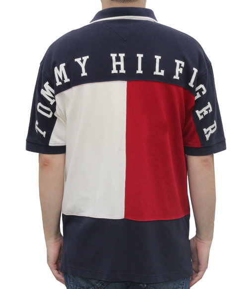 0e680d1fd56 Vintage Tommy Hilfiger Big Logo Spell-Out Rugby (Size L) — Roots