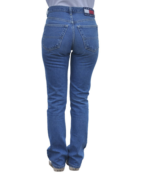 dbd37aeb Vintage Tommy Hilfiger Blue Denim Boot Cut Jeans (Size Women`s 3 ...