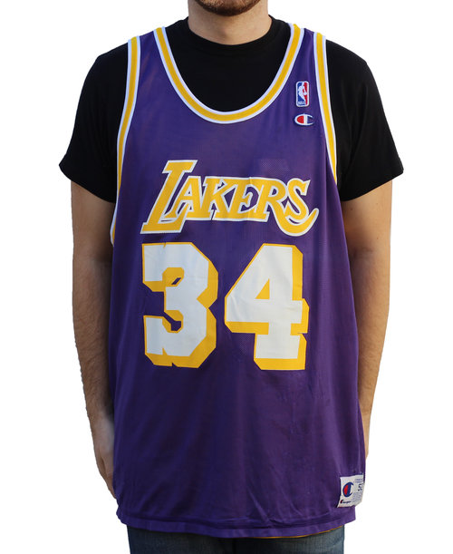 Champion Los Angeles Lakers Reversible Shaq O`neal Jersey (Size 52 ... eac0e9d46