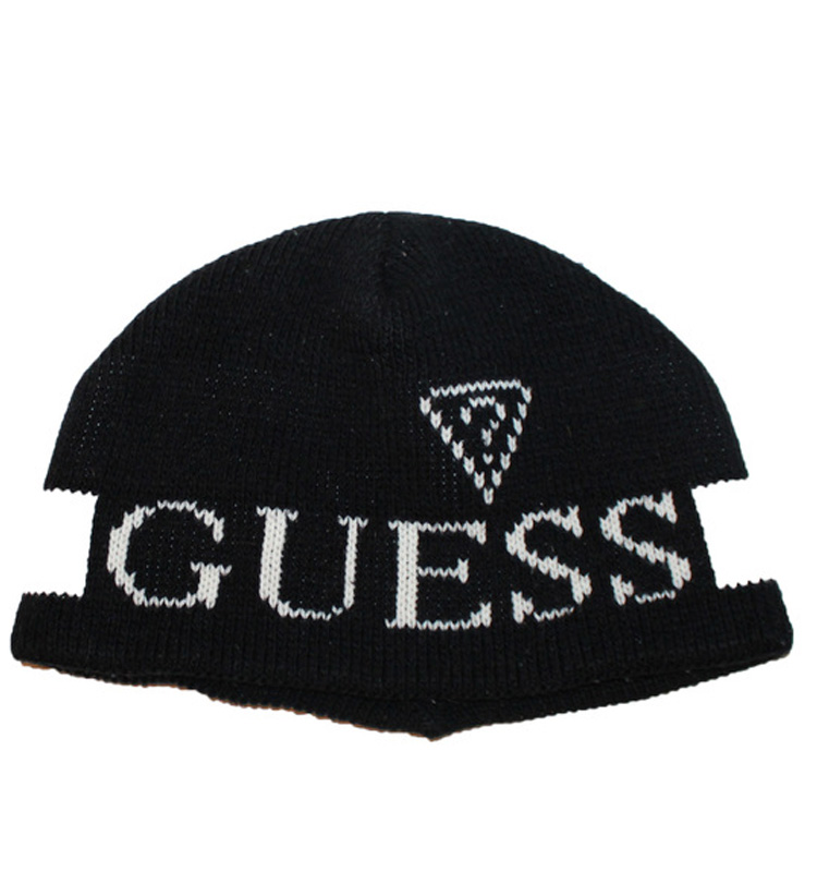 Vintage Guess USA Black   White Beanie — Roots 4dd1aaca57e