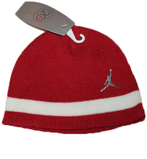 aa19de95b9549c Air Jordan Red / White Jumpman Beanie NWT — Roots