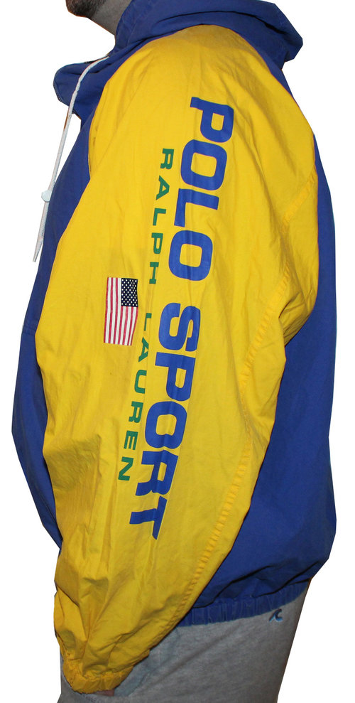 9f87bb2fb857 Vintage Polo Sport Ralph Lauren Spell Out Cotton Jacket (Size L) — Roots