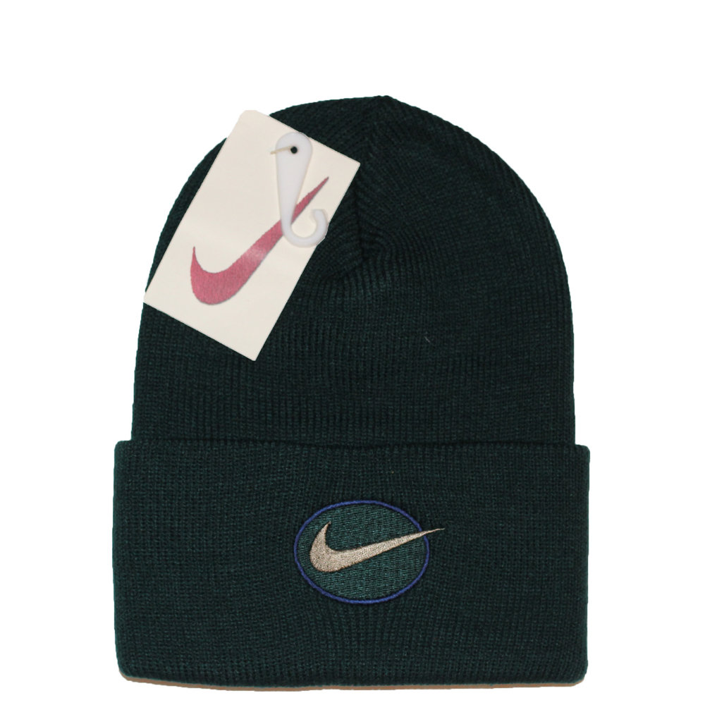 96d4c28dfab Vintage Nike Forest   Navy Beanie NWT — Roots