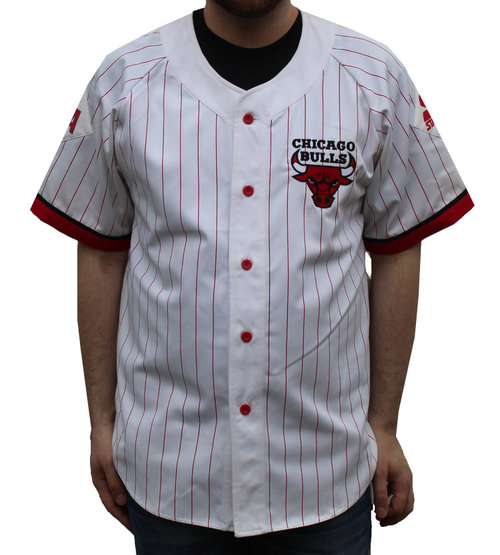 Vintage Starter Chicago Bulls Baseball Jersey (Size L) NWT — Roots 03eafb0b72