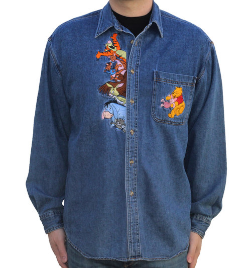 b398a61715a1 Vintage Disney Winnie The Pooh Denim Shirt (Size L) — Roots