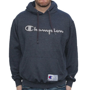 9f553a286 Champion Spell Out Heather navy hoodie