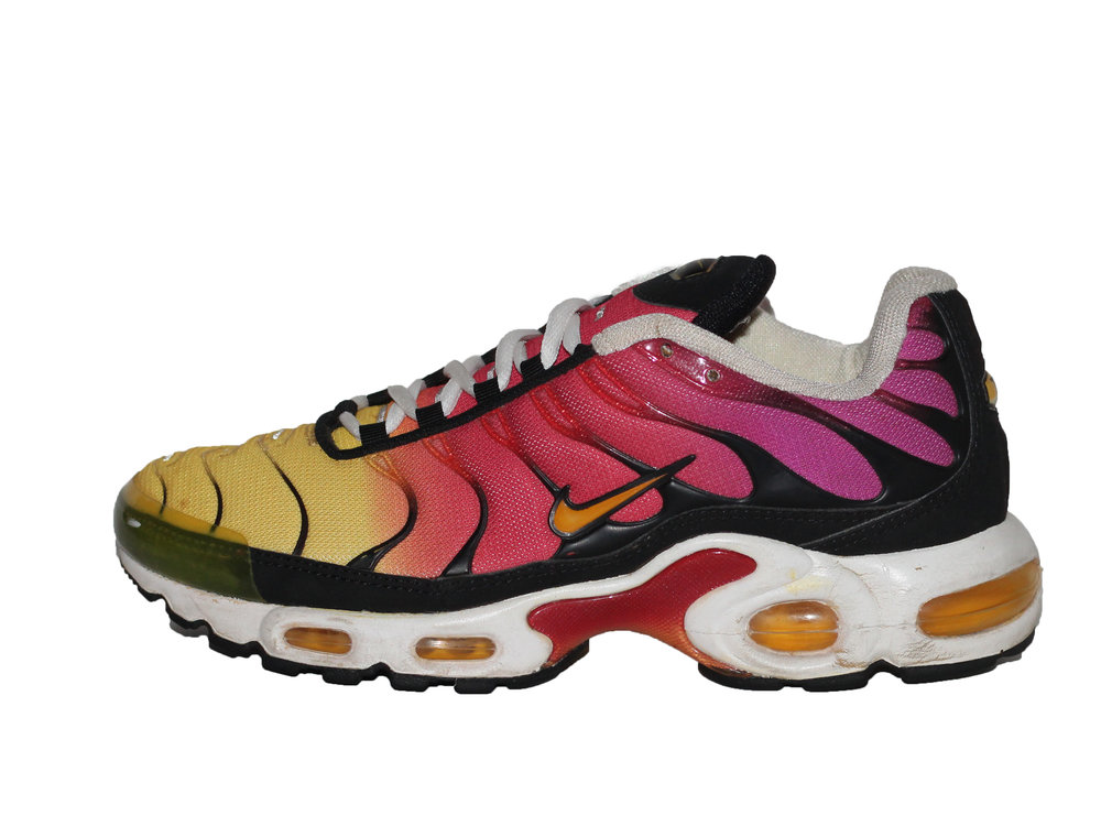 Nike TN Air Max Plus magenta and yellow in size 8.5 women