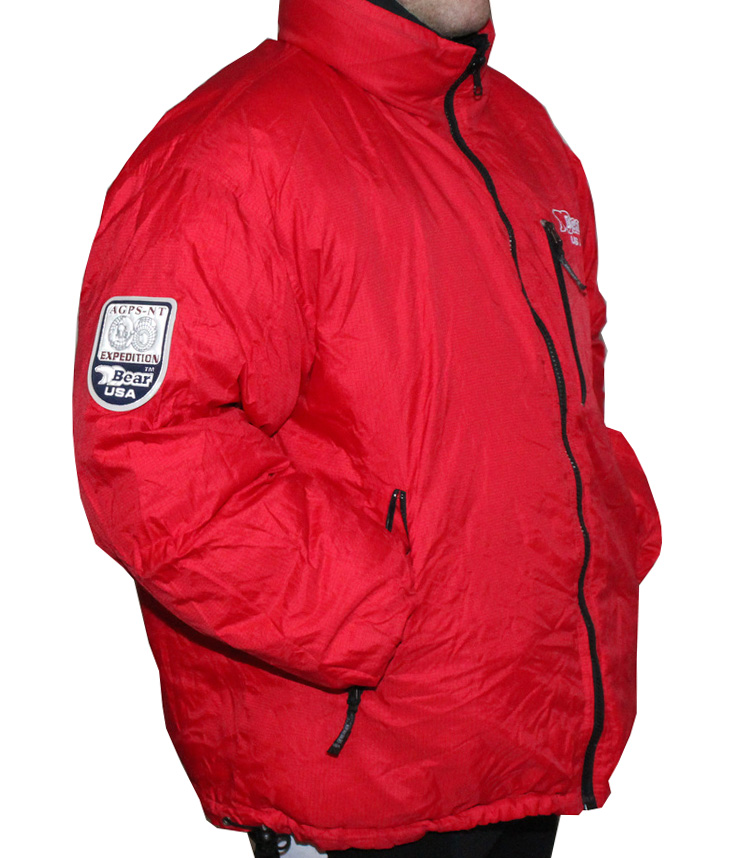 Vintage Bear USA Expedition Red / Black Reversible Bubble Coat ...