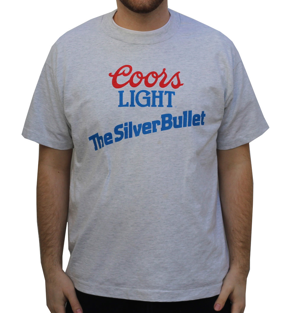 Vintage Coors Light The Silver Bullet T Shirt (Size XL)
