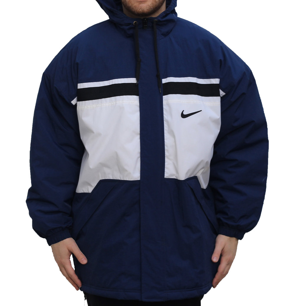 Vintage Blue and White Nike Winter Jacket A62bhe