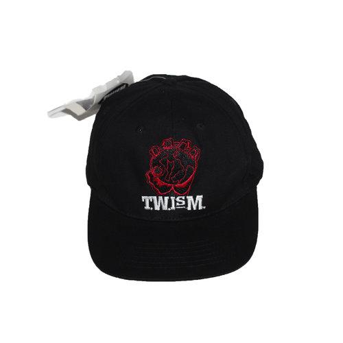 cb7605837dd73 Vintage T.W.I.S.M. Black   Red Snapback — Roots