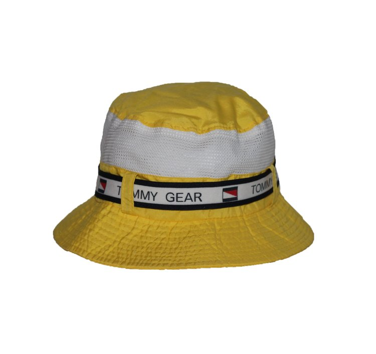 85888c15 Vintage Tommy Gear Yellow Bucket Hat — Roots