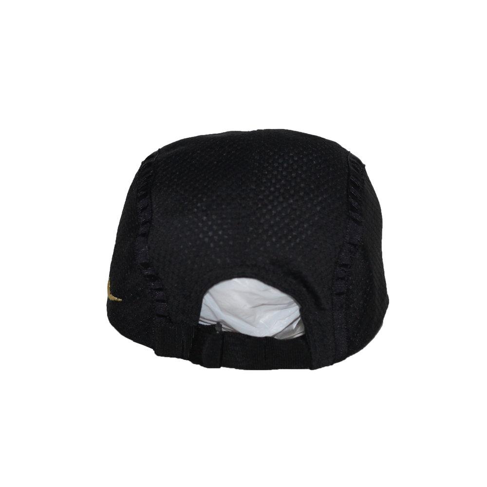 Vintage Nike Agassi Black   Gold Mesh Hat — Roots 95edf8bbca90