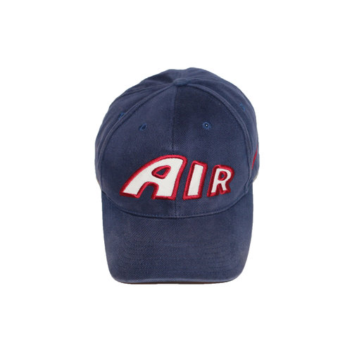cc288cefffb Vintage 90s Nike Air More Uptempo navy strap back hat.