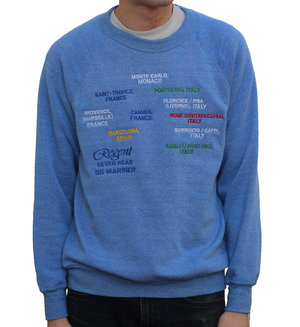 fe867b4eb Vintage European city heather blue sweatshirt.