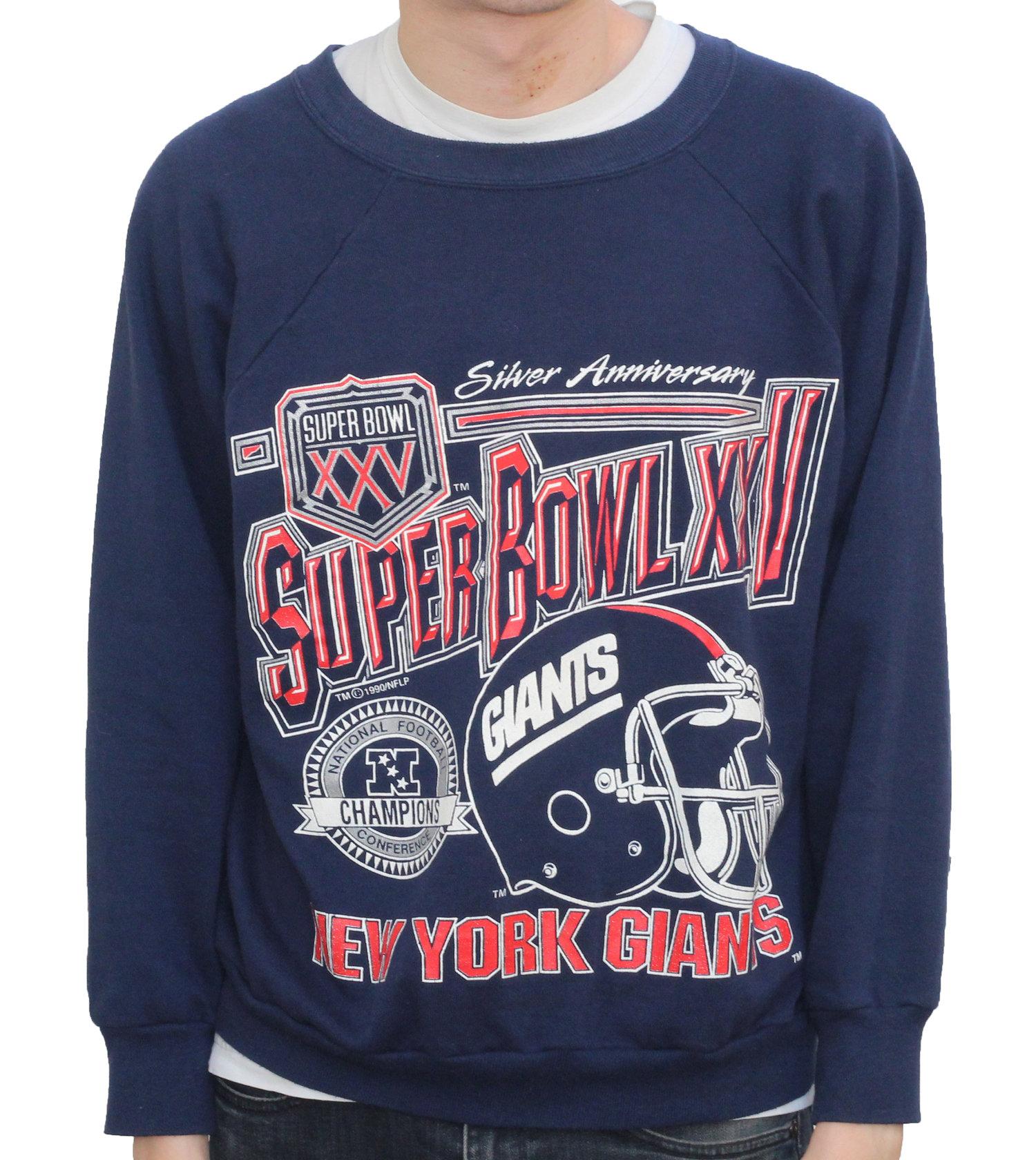 887790ba2 Vintage Logo 7 New York Giants Super Bowl XXV Sweatshirt (Size L Fits  Smaller) — Roots