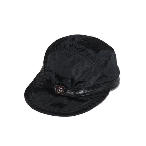 Vintage Gianni Versace Black 5 Panel Hat (Size Women`s M) — Roots a99e642a2b99