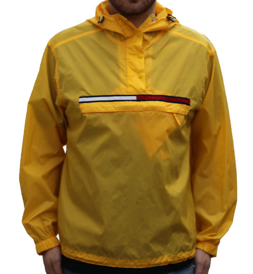aa8e4cfb Vintage Tommy Hilfiger Yellow Logo Windbreaker (Size XL) — Roots