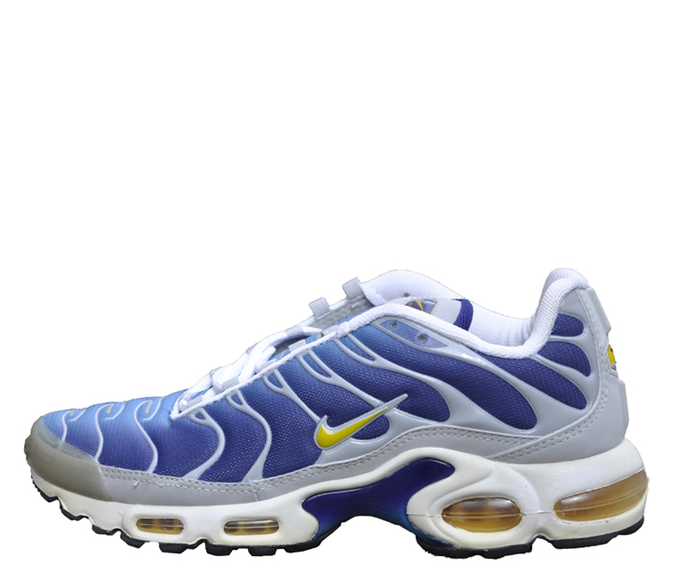 Women`s Nike Air Max Plus TN Night Blue / Maize DS — Roots