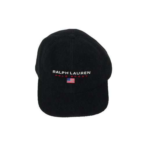 19e4a508b87af Vintage Ralph Lauren Polo Sport Black Fleece Hat — Roots
