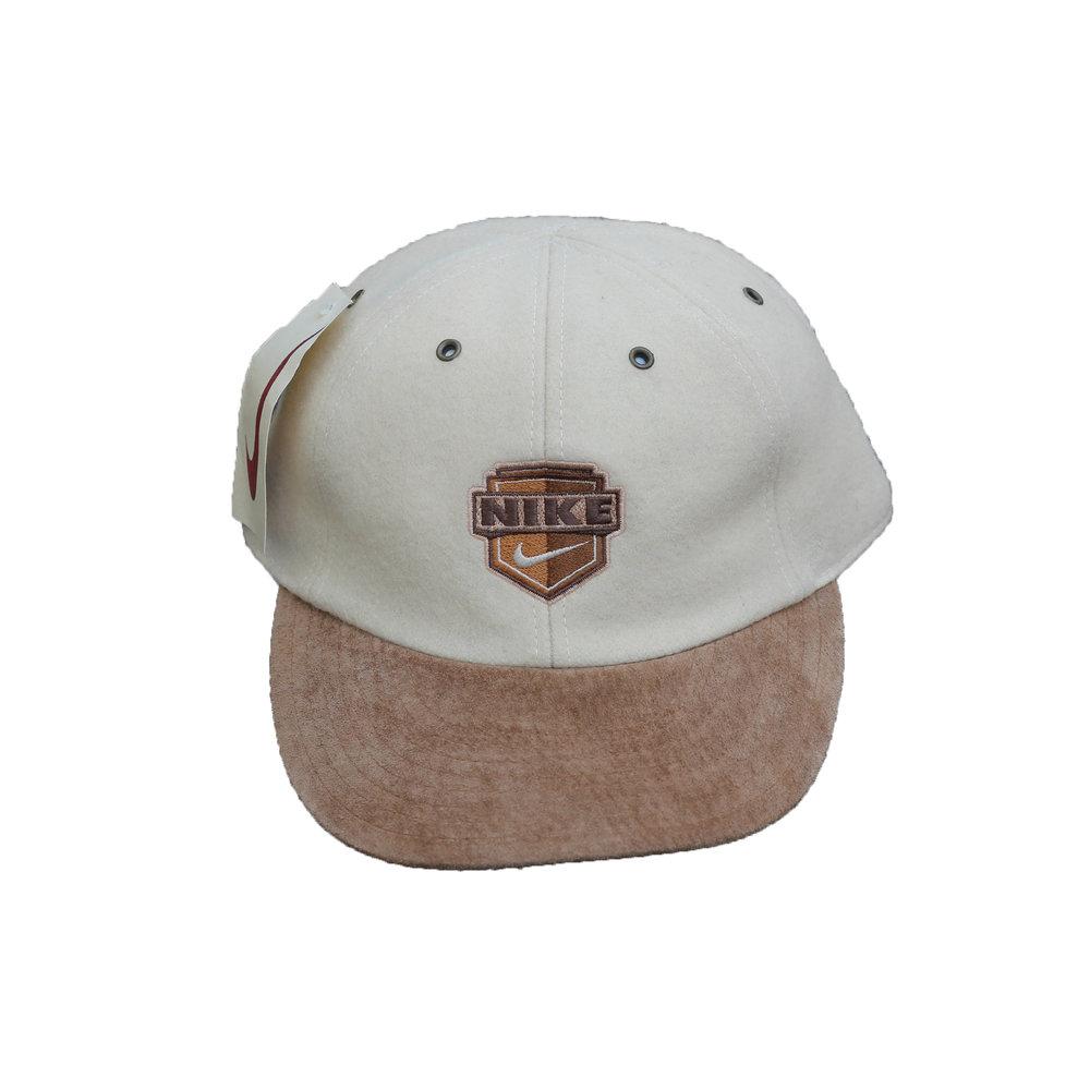 95cefd9383e ... reduced nike white and tan logo hat 486e5 e02e9