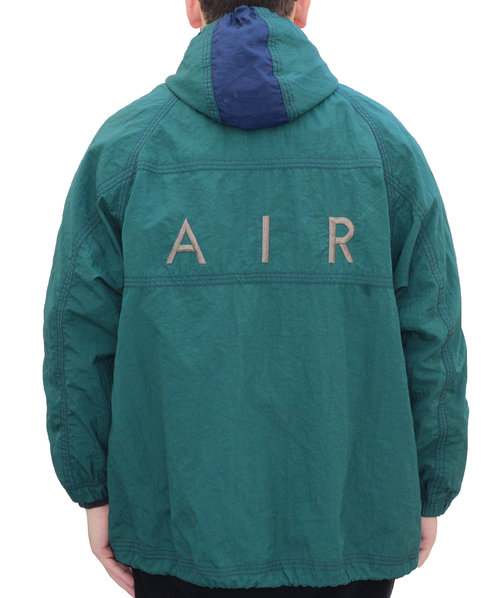 d4dce58e0b19e Vintage Nike Air Max Green   Gold   Navy Windbreaker (Size L) — Roots