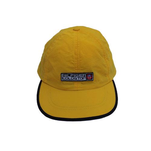 af5001e036e21 Vintage Tommy Hilfiger Coldstop Yellow   Navy Nylon Hat — Roots