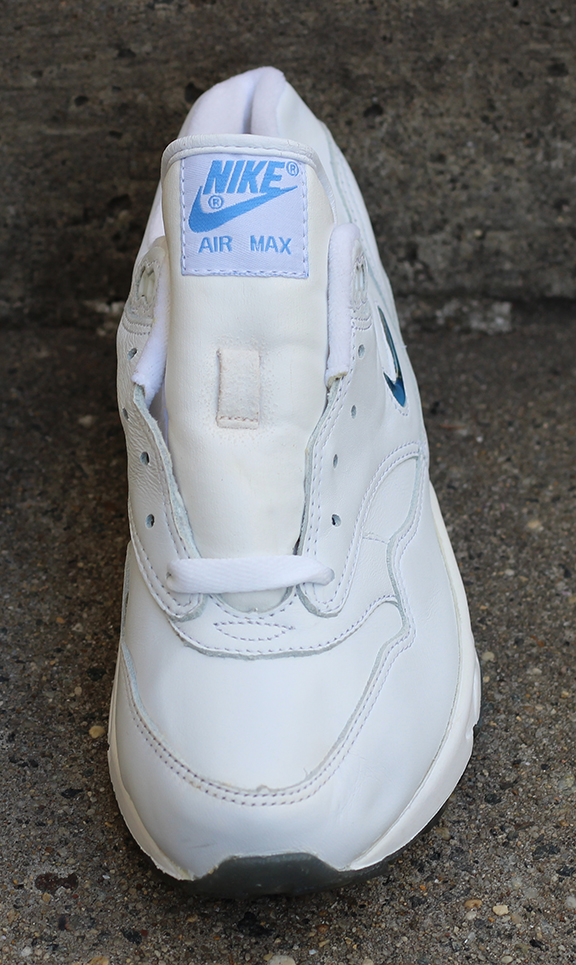 Kids Nike Air Max 1 Leather SC White   Carolina Blue Jewel DS — Roots 8793dd478