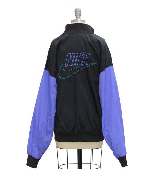 Vintage Nike Black   Purple   Aqua Windbreaker (Size Women`s L) — Roots 491f2d2ff