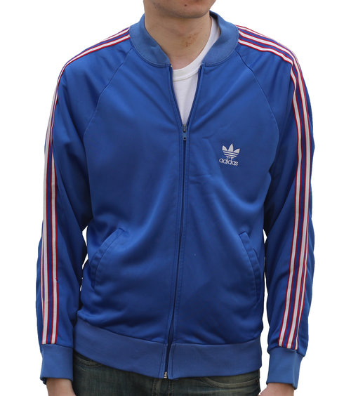 Vintage Adidas Blue Track Jacket Size M Roots