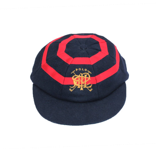 78a986ff1 Vintage Polo Ralph Lauren Scribble Black Red Newsboy Hat (Size 7 3 8 ...