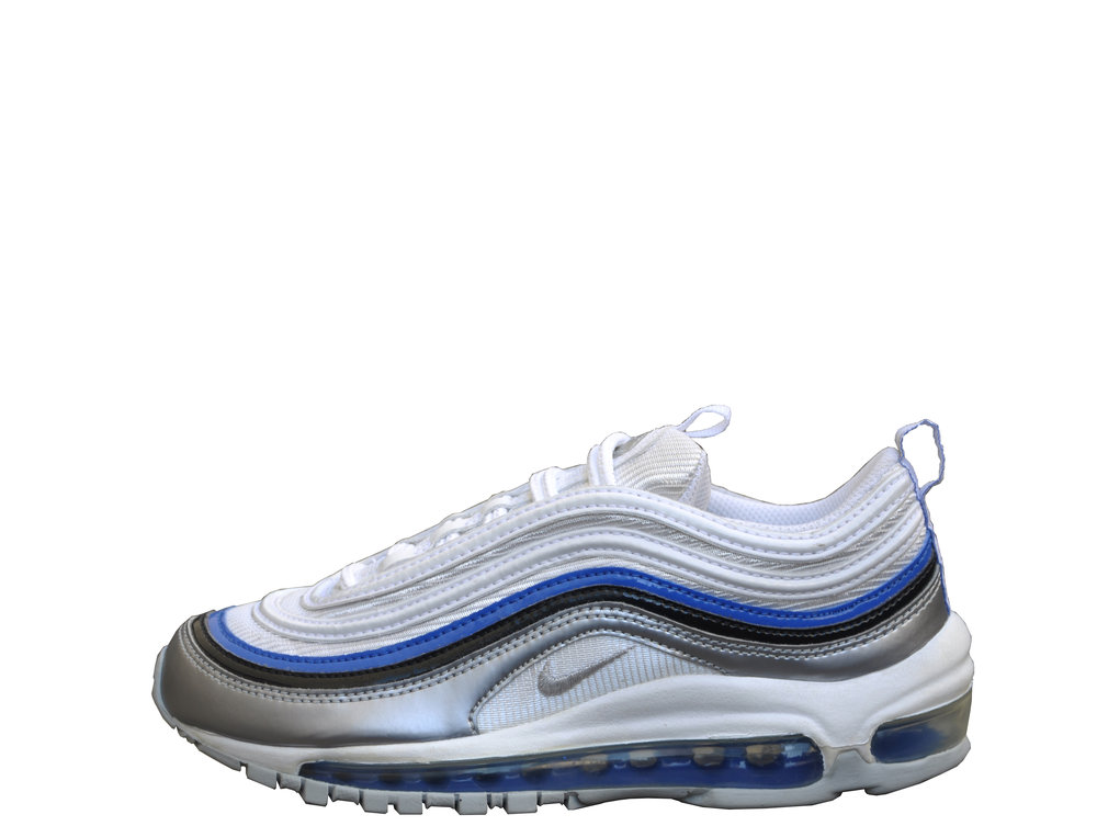 Kids Nike Air Max 97 LE White / Silver / Royal DS