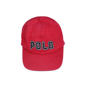 a835eff35d0 Vintage Polo Ralph Lauren Red spell out strap back.