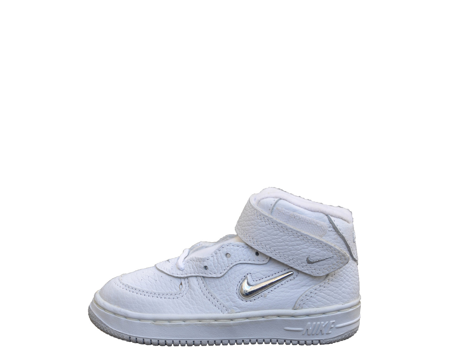 e33190ae70 Baby Nike Air Force 1 SJ SC Mid White Metallic Silver Jewel (Size 8.5) DS —  Roots