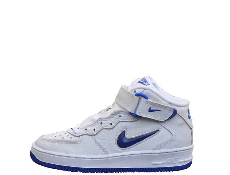 e9d735bd2c0b Kids Nike Air Force 1 Mid SC Jewel White   Royal (Size 1.5) DS — Roots