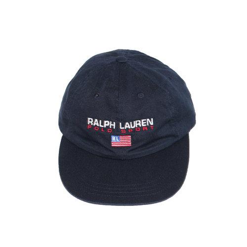 f47eb6d57 Vintage Ralph Lauren Polo Sport USA Navy Strap Back Hat — Roots
