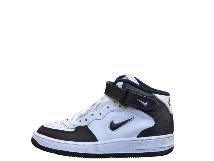 643a789a Kids Nike Air Force 1 Mid Jewel White / Black / Lizz DS