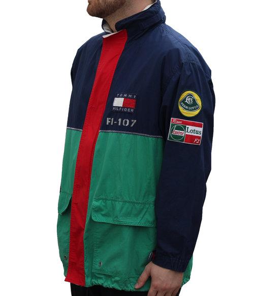 Vintage Tommy Hilfiger Lotus F1 Long Jacket Size M Roots