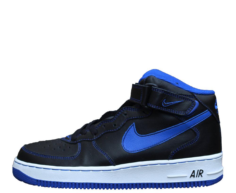 Nike Air Force 1 Black and Royal 7ee71d6b3