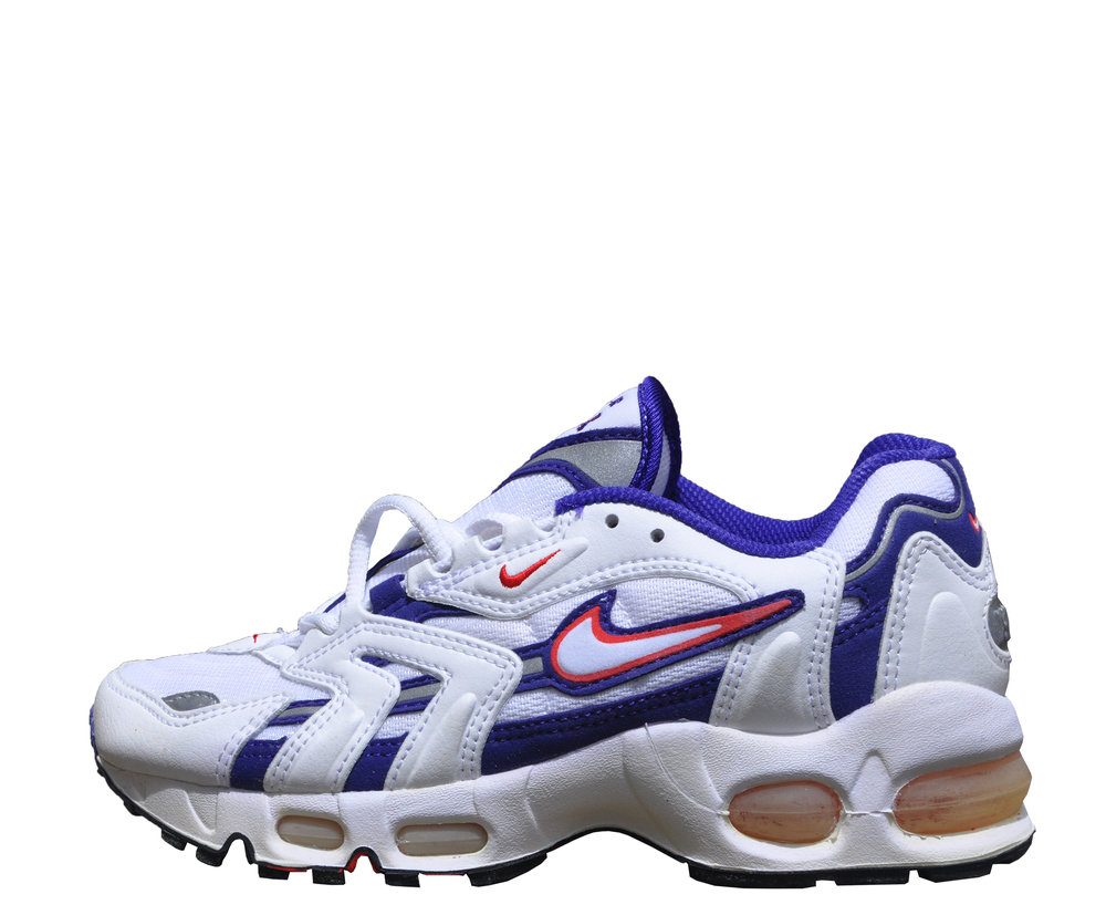 the latest b7300 2be55 Women`s Nike Air Max 96 White   Grape   Comet Red (Size 5.5) DS — Roots